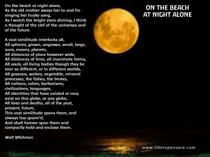On the Beach at night Alone Whitman