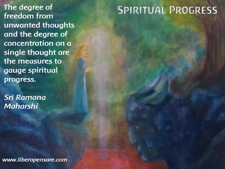 Spiritual Progress Sri Ramana Maharshi