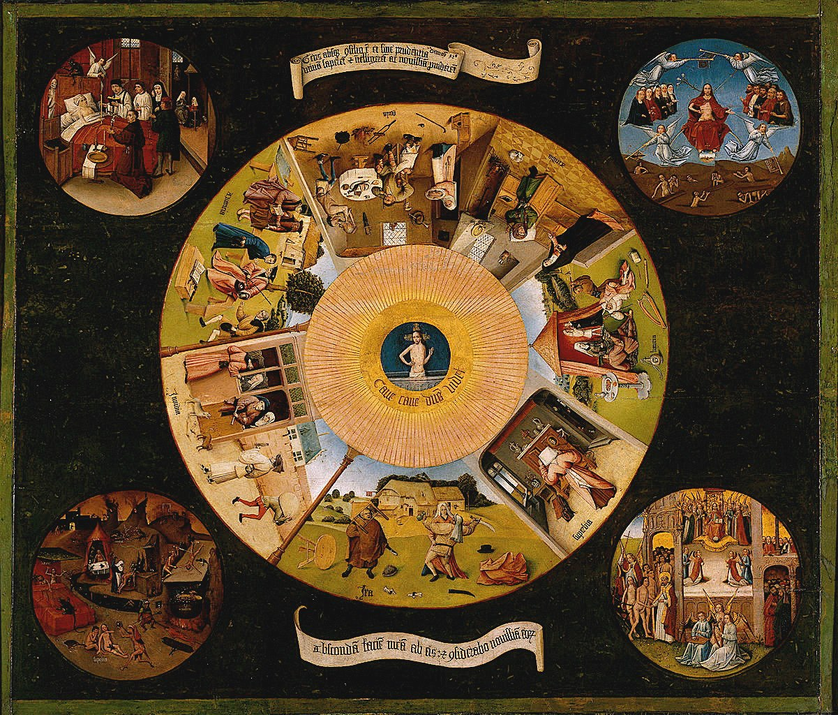 The Seven Deadly Sins and the Four Last Things c. 1500 By Hieronymus Bosch Jheronimus van Aken c. 1450Aug. 9th 1516
