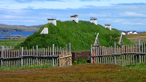 LAnse aux Meadows recreated long house