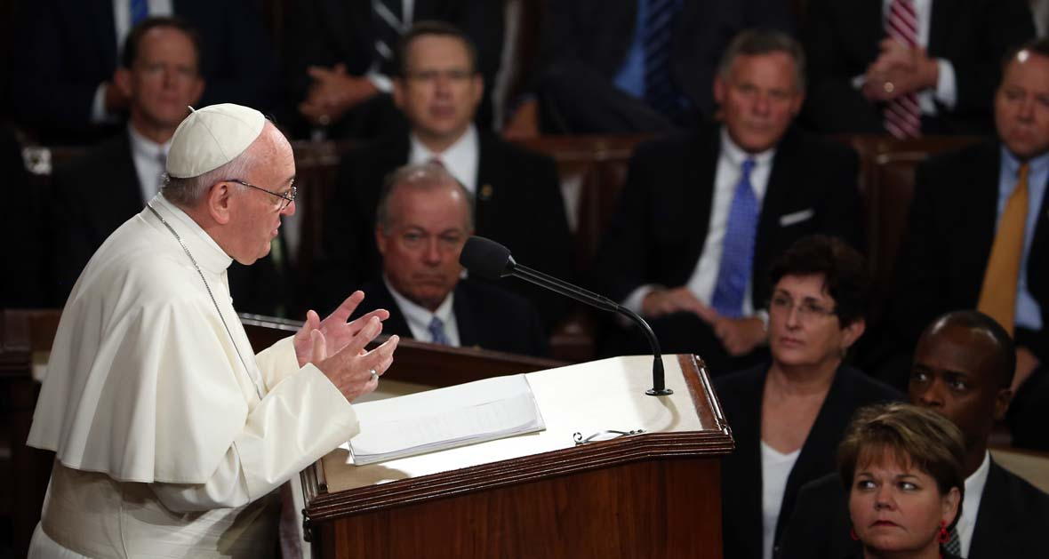 aaa pope francis congress getty